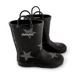 Γαλότσες μαύρες με αστέρια - Nununu
