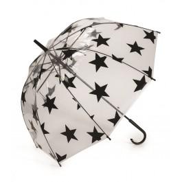 Ομπρέλα διάφανη με αστέρια