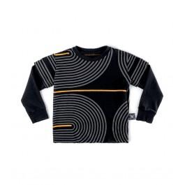 Παιδικό T-Shirt  Spiral - Μαύρο