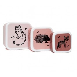 Lunchbox Black animals - Set of 3