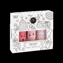 Σετ με 3 βερνύκια νυχιών Nailmatic - Cookie-Bella-Polly