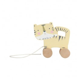 Wooden pull toy Tiger