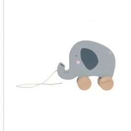Ξύλινος συρόμενος ελέφαντας