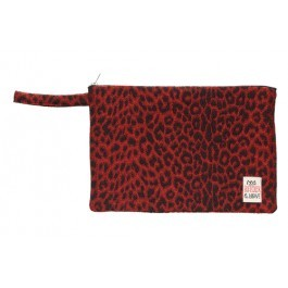 Waterproof Bag Woven - Leopard Red