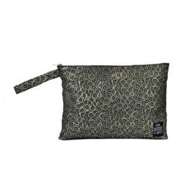 Waterproof Bag Woven - Green Metallic