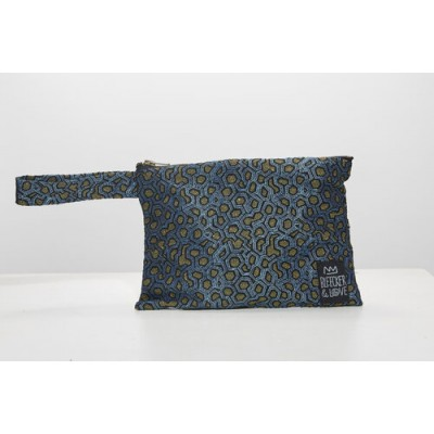 Waterproof Bag Woven - Blue Metallic