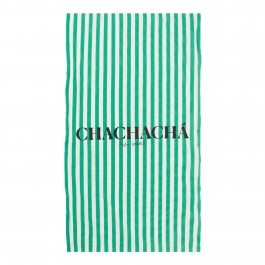 Chachacha Beach Towel Green stripes