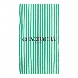 Chachacha Beach Towel Green stripes