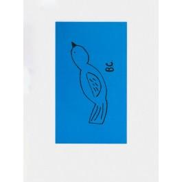 Bird Beach Towel  Blue