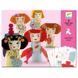 Κατασκευές γκέισας από χαρτί - Paper Toys Kokeshi