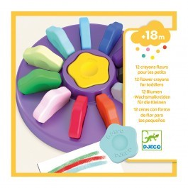 Set of 12 flower crayons for toddlers