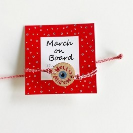 Βραχιολάκι Μάρτης - Hello March
