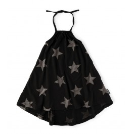 Star Collar Dress - Black